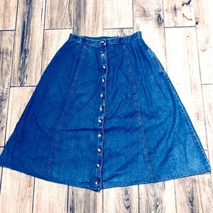 Talbots Womens Size 12 Denim Skirt